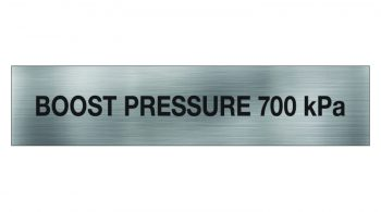 Boost Pressure Sign