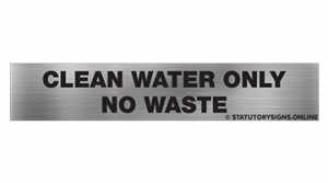 CLEAN WATER ONLY NO WASTE