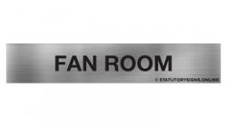 Fan Room Sign