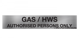 GAS / HWS AUTHORISED PERSONS ONLY