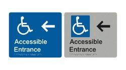 accessible-entrance-left-arrow-blue-silver