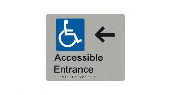 Accessible Entrance Left Arrow Sign