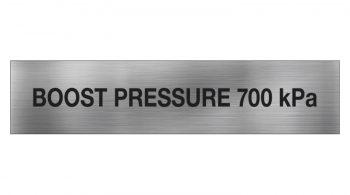 Boost Pressure Sign 700 KPA