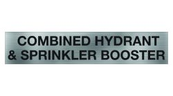 Combined Hydrant & Sprinkler Booster Sign