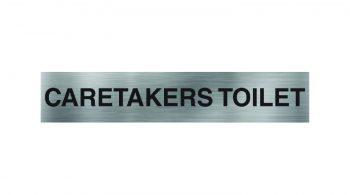 Caretakers Toilet Sign