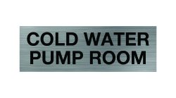 Cold Water Pump Room Sign