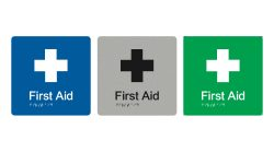 first-aid-blue-silver-green