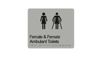 Female & Female Ambulant Toilet Sign