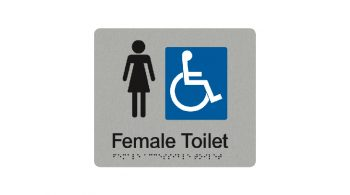 Female Accessible Toilet Sign