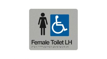 Female Accessible Toilet Left Hand Sign