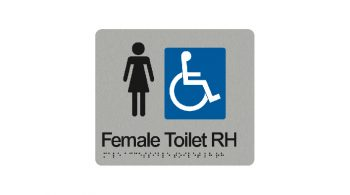 Female Accessible Toilet Right Hand Sign