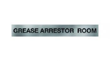 Grease Arrestor Room Sign