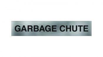 Garbage Chute Sign