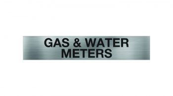 Gas and Water Meters Sign
