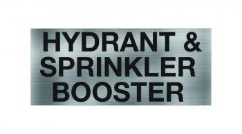 Hydrant & Sprinkler Booster Sign