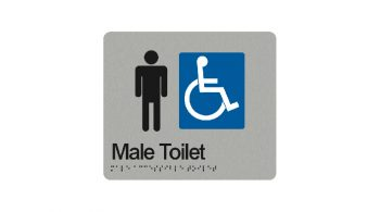 Male Accessible Toilet Sign