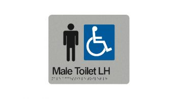 Male Accessible Toilet Left Hand Sign