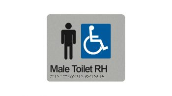Male Accessible Toilet Right Hand Sign