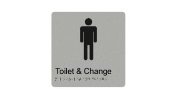 Male Toilet And Change Sign