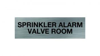 Sprinkler Alarm Valve Room Sign