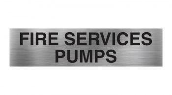 fire services pumps sign