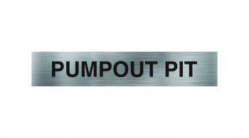 Pumpout Pit Sign