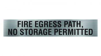 fire-egress-path-no-storage-permitted