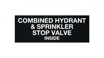 Combined Hydrant & Sprinkler Stop Valve Sign