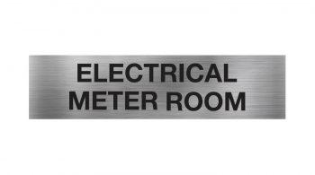 electrical meter room sign