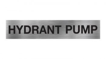 Hydrant Pump Sign