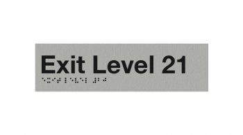 Braille Exit Level 21 Sign