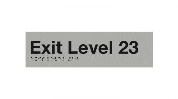 Braille Exit Level 23 Sign