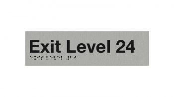 Braille Exit Level 24 Sign