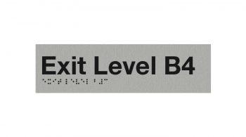Braille Exit Level Basement 4 Sign