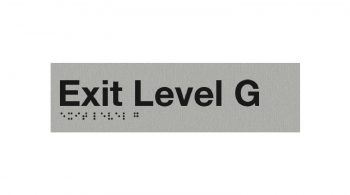 Braille Exit Level G Sign