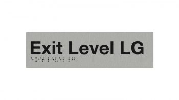 Braille Exit Level LG Sign