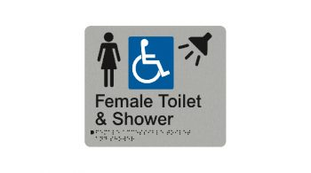 Female Accessible Toilet And Shower Sign