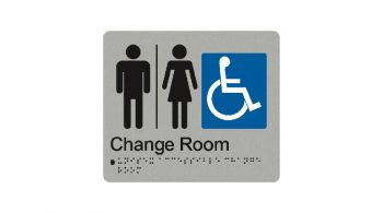 Unisex Accessible Change Room Sign