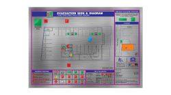brushed-aluminium-fire-evacuation-diagram