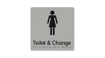 Female Toilet & Change Sign