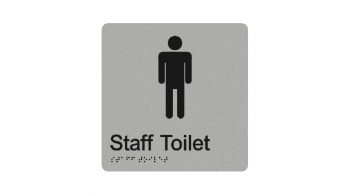 Male Staff Toilet Sign