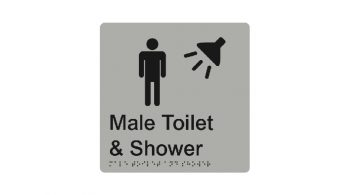 Male Toilet And Shower Sign