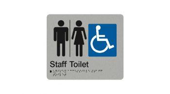 Unisex Staff Toilet Sign