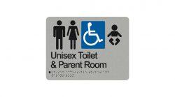 Unisex Toilet & Parent Room Sign